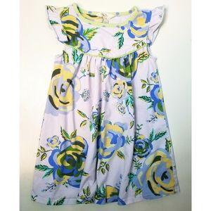 Matilda Jane lilac floral flutter cap sleeve dress
